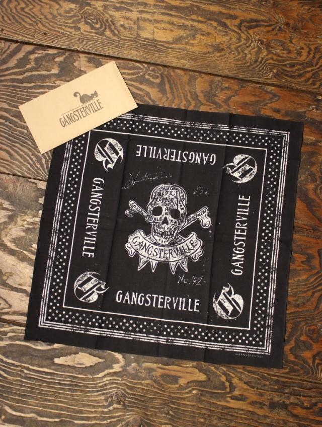 GANGSTERVILLE  「THUG  - BANDANA 〈SKULL〉」  バンダナ