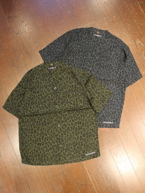 CAPTAINS HELM 「TOWN CRAFT × CHT #LEOPARD RAYON B.B. SHIRTS」 レーヨンベースボールシャツ