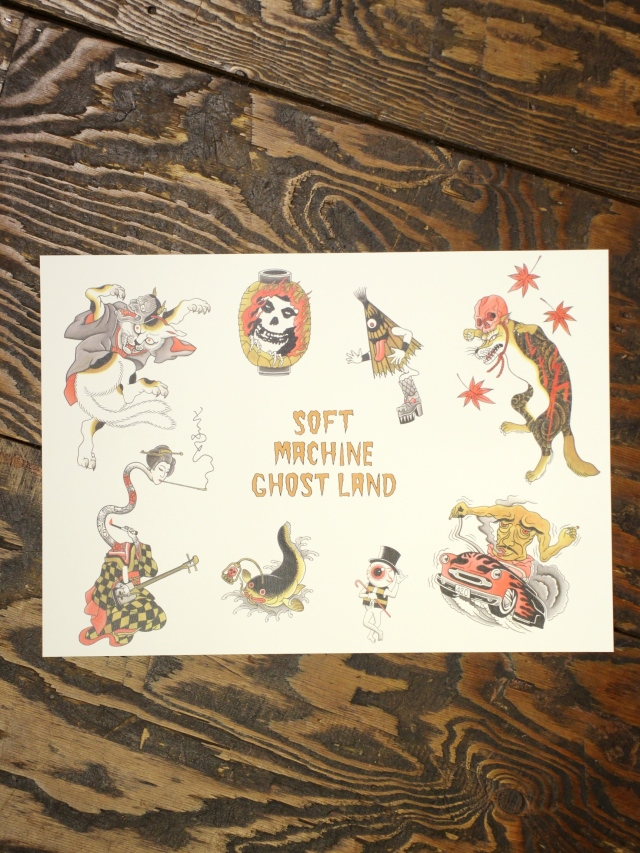 SOFTMACHINE  「GHOST LAND FLASH」 A3サイズ ポスター