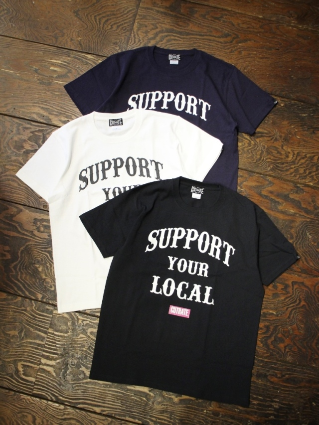 CUT RATE  「SUPPORT T-SHIRT」 プリントティーシャツ