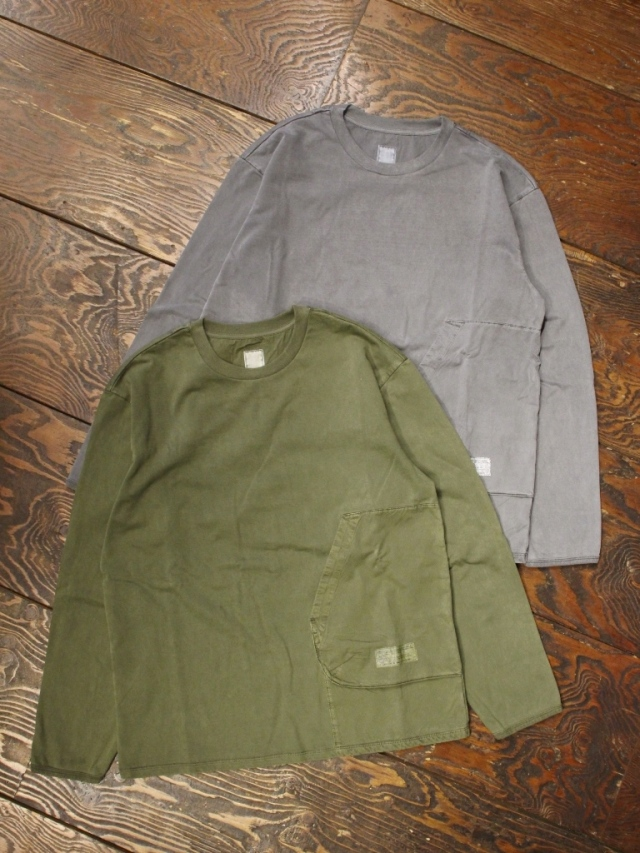 Liberaiders  「 OVERDYED SHOOTING L/S TEE  」  ピグメント染めロンティー