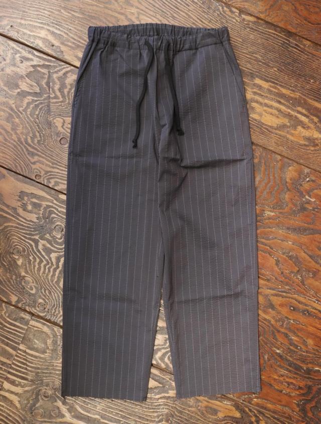 【Limited Item !!】 CALEE  「SEERSUKER STRIPE CUTOFF RELAX PANTS」 カットオフ リラックスイージーパンツ
