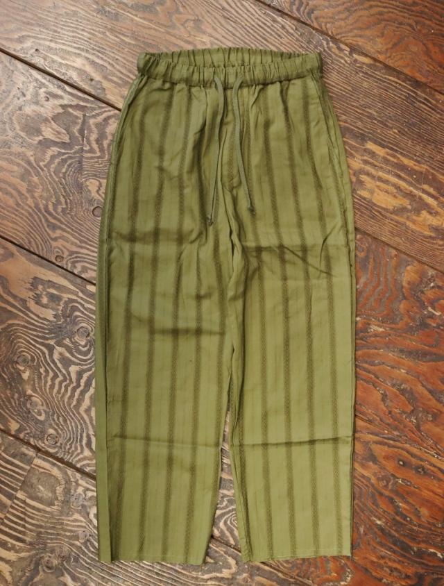 【Limited Item !!】 CALEE  「LENO CLOTH STRIPE CUTOFF RELAX PANTS」 カットオフ リラックスイージーパンツ