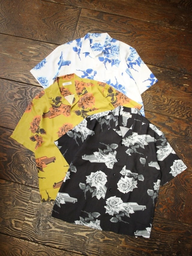 RADIALL  「CHEVY ROSE - OPEN COLLARED SHIRT S/S」  オープンカラーレーヨンシャツ