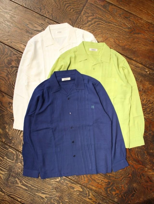 RADIALL  「CROSS LACED - OPEN COLLARED SHIRT L/S」  オープンカラー レーヨンシャツ