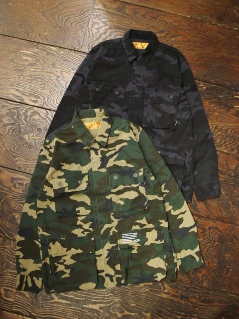 CHALLENGER   「CAMOUFLAGE JACKET」 ミリタリーシャツジャケット