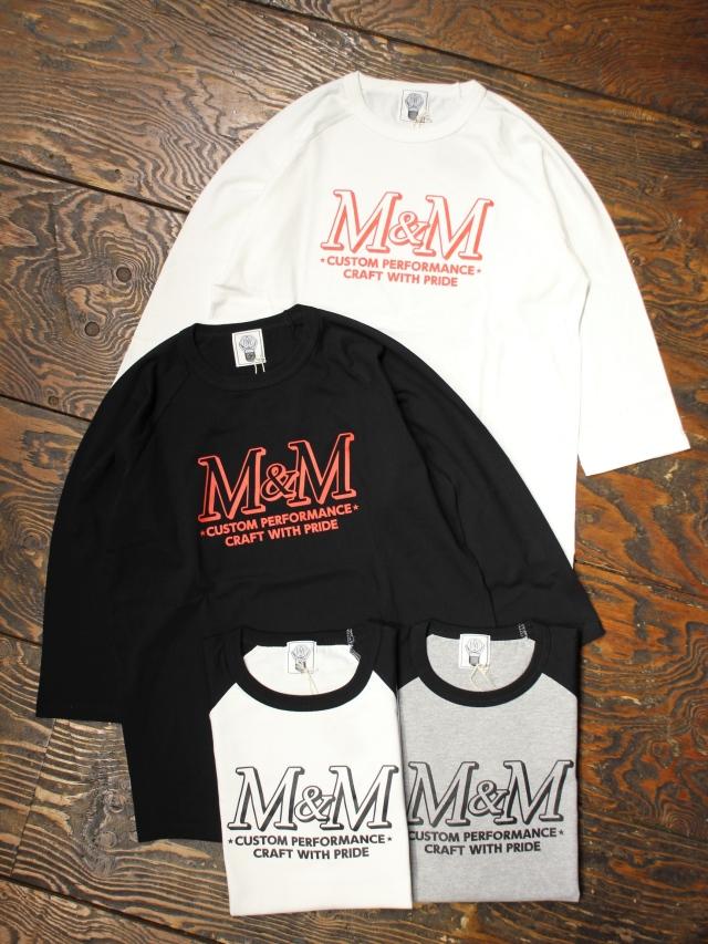 M&M CUSTOM PERFORMANCE   「 RAGLAN T-SHIRT 」 ラグラン7分袖ティーシャツ