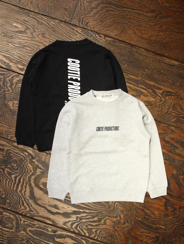 【FOR KIDS】 COOTIE  「Print Crewneck Sweatshirt  」 KID'S スウェットシャツ