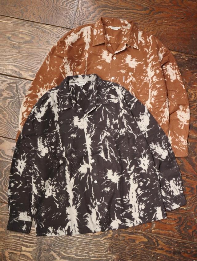 COOTIE  「Wolf Print Nel Open Collar Shirt 」 オープンカラーシャツ