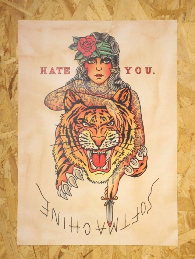 SOFTMACHINE  「HATE YOU POSTER」 A3サイズ ポスター