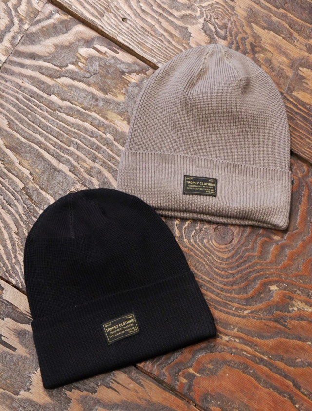 TROPHY CLOTHING  「Watchman Cotton Knit Cap」  ニットキャップ