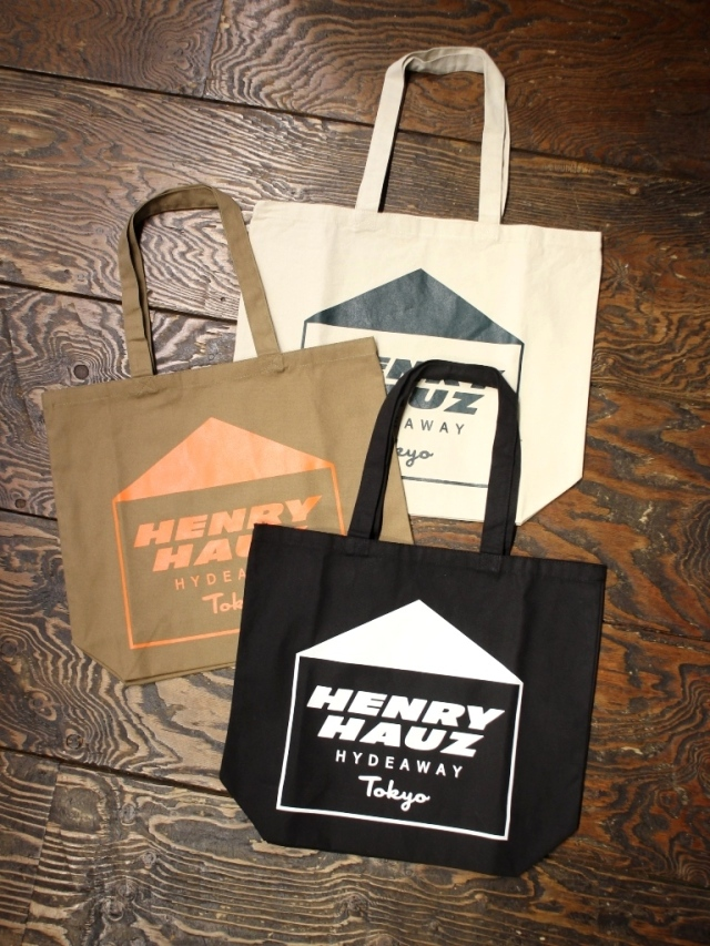 【NEW YEAR ITEM !!】 HENRY HAUZ  「HH LOGO TOTE」 トートバッグ