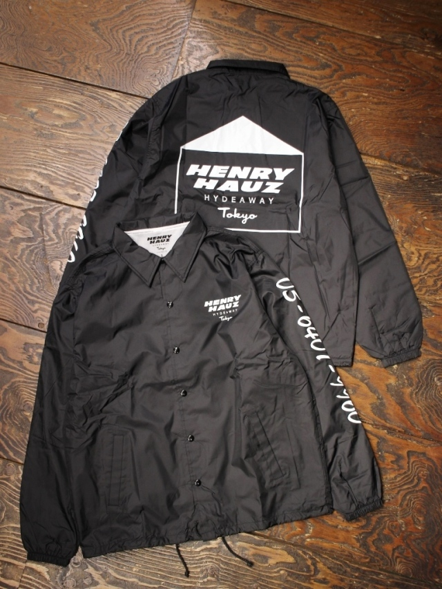 【NEW YEAR ITEM !!】 HENRY HAUZ  「HH LOGO COACH JKT 」 コーチジャケット