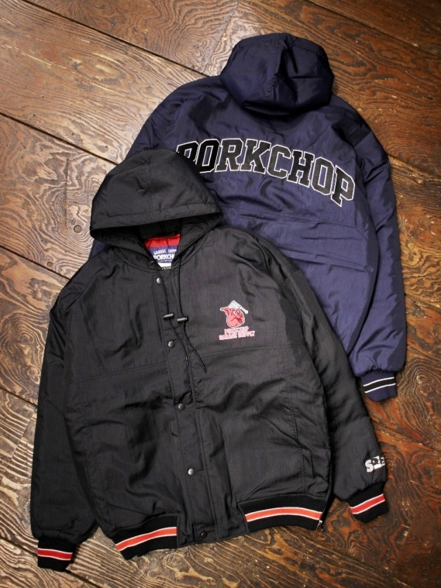 【NEW YEAR ITEM !!】  PORKCHOP GARAGE SUPPLY   「HOOD STADIUM JKT 」  フードスタジアムジャケット
