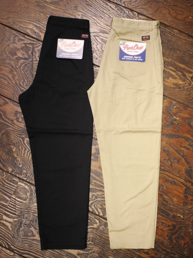 【NEW YEAR ITEM !!】  PORKCHOP GARAGE SUPPLY   「LOOSE FIT CHINO PANTS」  ルーズフィットチノパンツ
