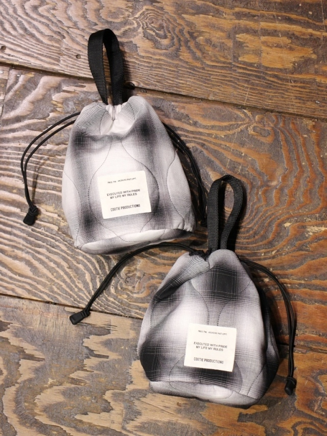 【NEW YEAR ITEM !!】 COOTIE   「 Ombre Check Quilting Drawstring Bag 」  ドローストリングバッグ