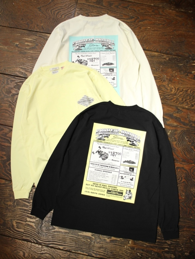RADIALL × CHAOS FISHING CLUB  「GAMBLING HOURS - CREW NECK T-SHIRT L/S」  プリントロンティー