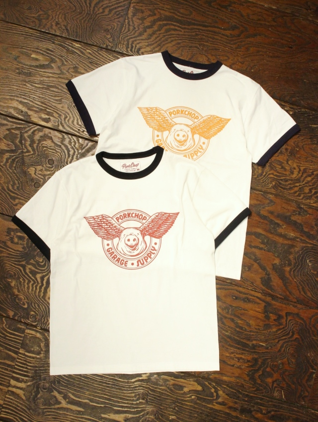 PORKCHOP GARAGE SUPPLY   「 WING PORK RINGER TEE 」  リンガーティーシャツ