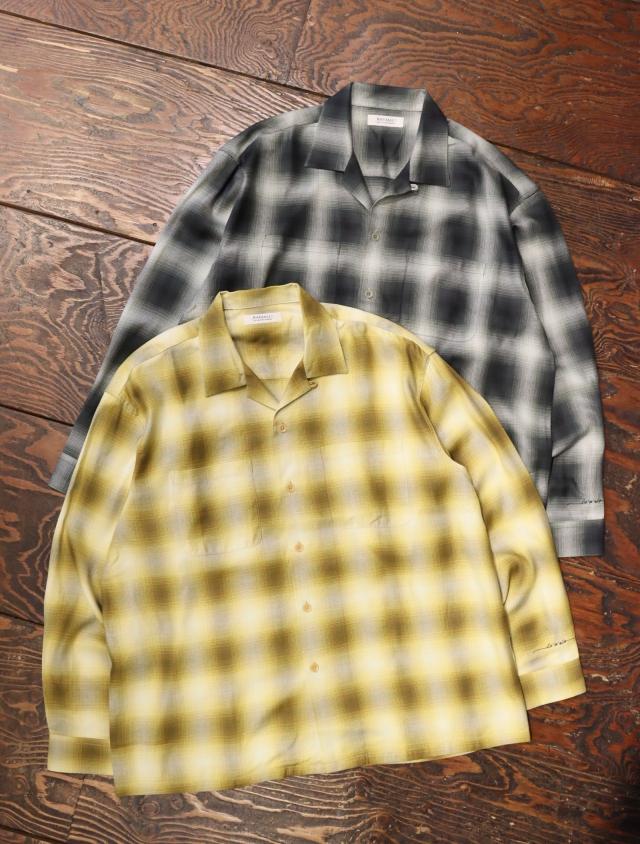 RADIALL  「LO-N-SLO - OPEN COLLARED SHIRT L/S」  オープンカラーレーヨンシャツ
