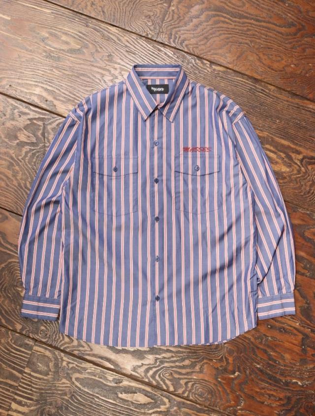 MASSES  「STRIPED SHIRTS B」  レギュラーカラーストライプシャツ