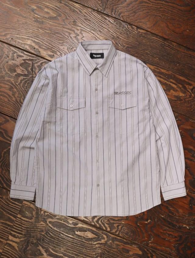 MASSES  「STRIPED SHIRTS G」  レギュラーカラーストライプシャツ