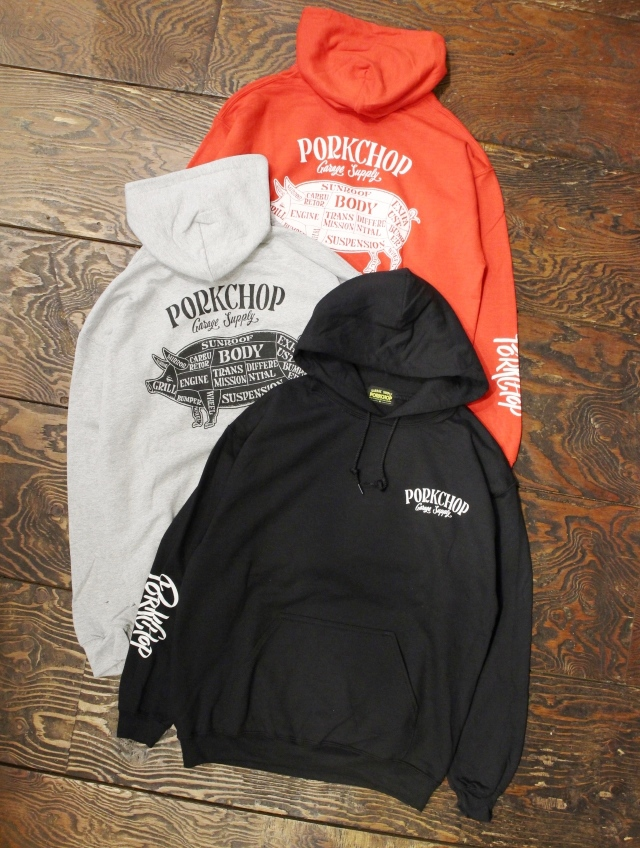 PORKCHOP GARAGE SUPPLY   「PORK BACK HOODIE」  プルオーバーパーカー