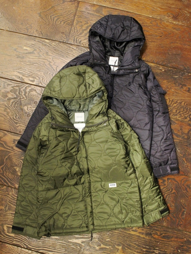 RADIALL  「SURFIN' BIRD - QUILTED JACKET」  キルトフードジャケット