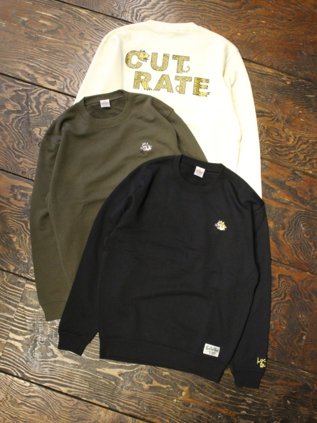 CUT RATE  「LEOPARD LOGO CREW SWEAT」 クルーネックスウェット