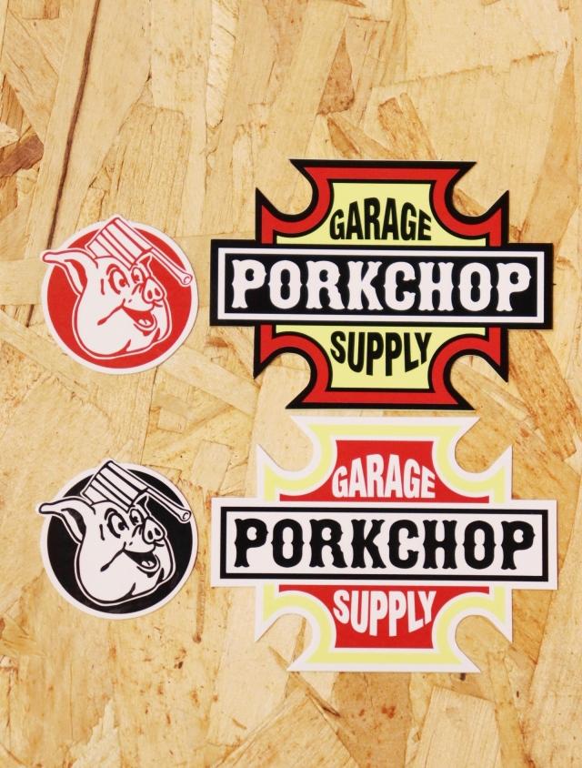 PORKCHOP GARAGE SUPPLY   「BAR & SHIELD STICKER SET」  ステッカーセット