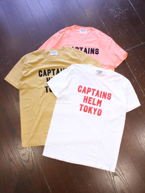 CAPTAINS HELM   「# CH TOKYO TEE」 刺繍ティーシャツ