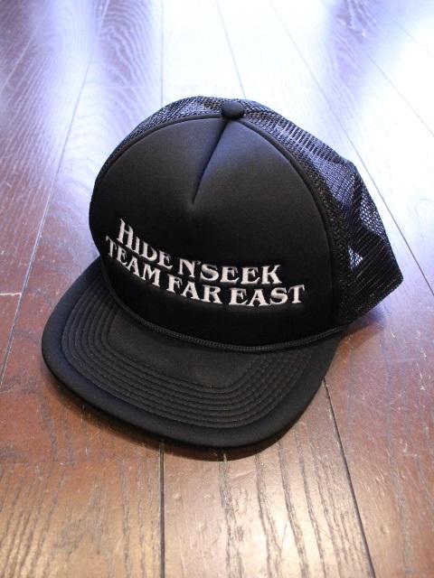 HIDEANDSEEK 「TEAM FAR EAST Mesh CAP」 メッシュキャップ
