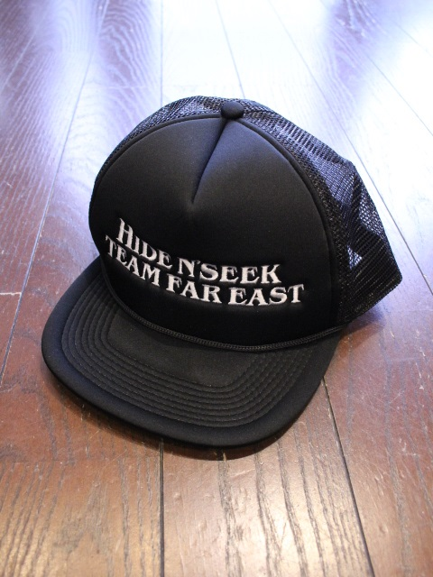HIDEANDSEEK 「TEAM FAR EAST Mesh CAP」 メッシュキャップ
