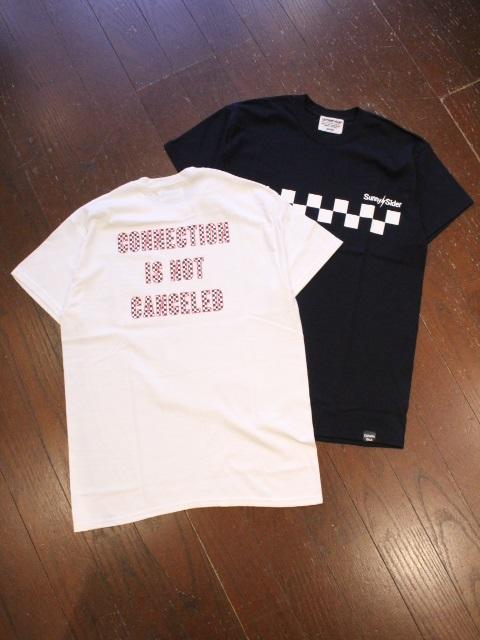 SUNNY C SIDER×CAPTAINS HELM  「#CHECKER LOGO S/S TEE」 プリントティーシャツ