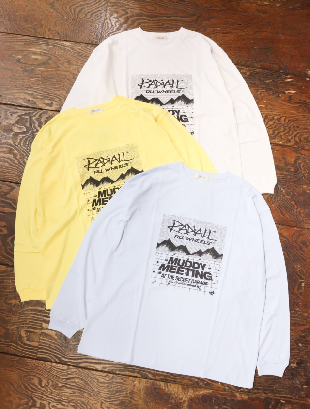 RADIALL  「MR.MUDDY - CREW NECK T-SHIRT L/S」  プリントロンティー