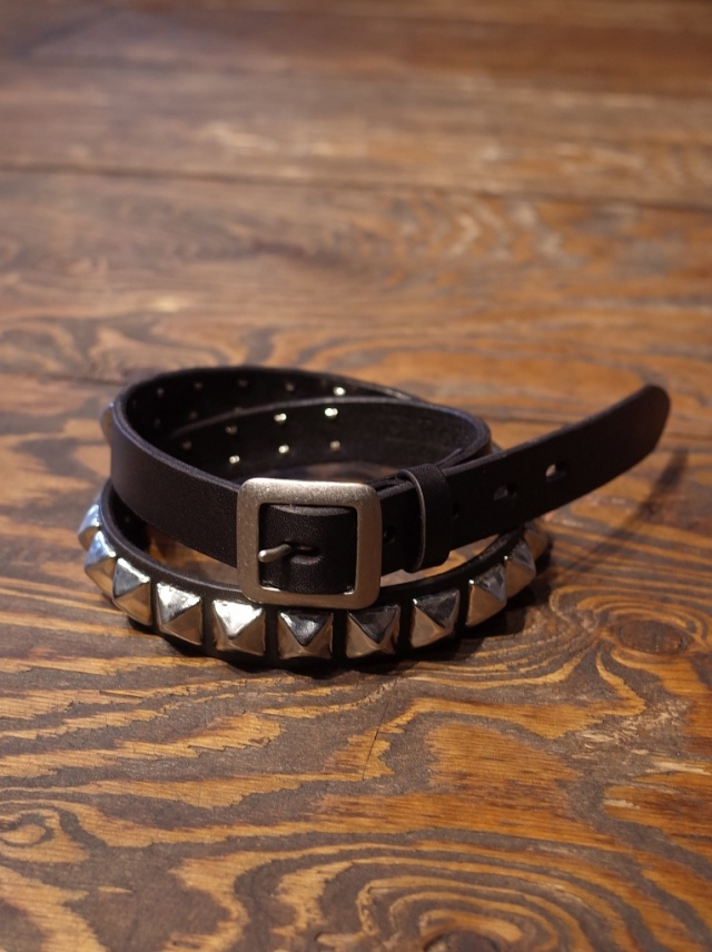 RADIALL  「MONTE CARLO - STUDDED  NARROW BELT」  レザーベルト