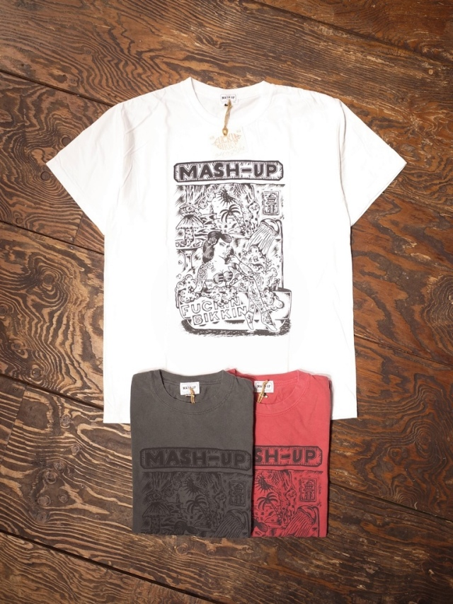 【 MASH UP HORIE Aniversary Item !!! 】 MASH UP  × Fukkin Bikkin プリントティーシャツ