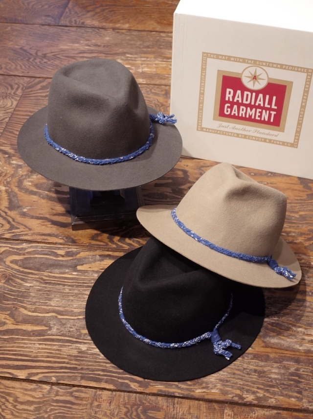 RADIALL  「HARVEST ROLLABLE FEDORA HAT」  フェドラハット