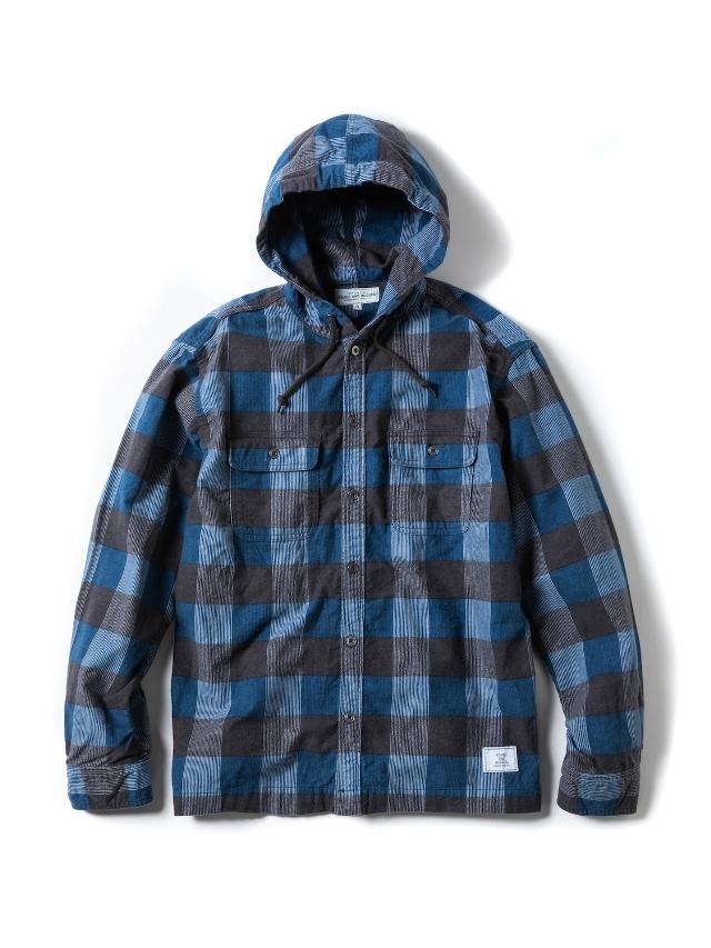 【予約商品:3月入荷予定】 ROUGH AND RUGGED   「WALKEN HOODIE」  フード付きチェックシャツ