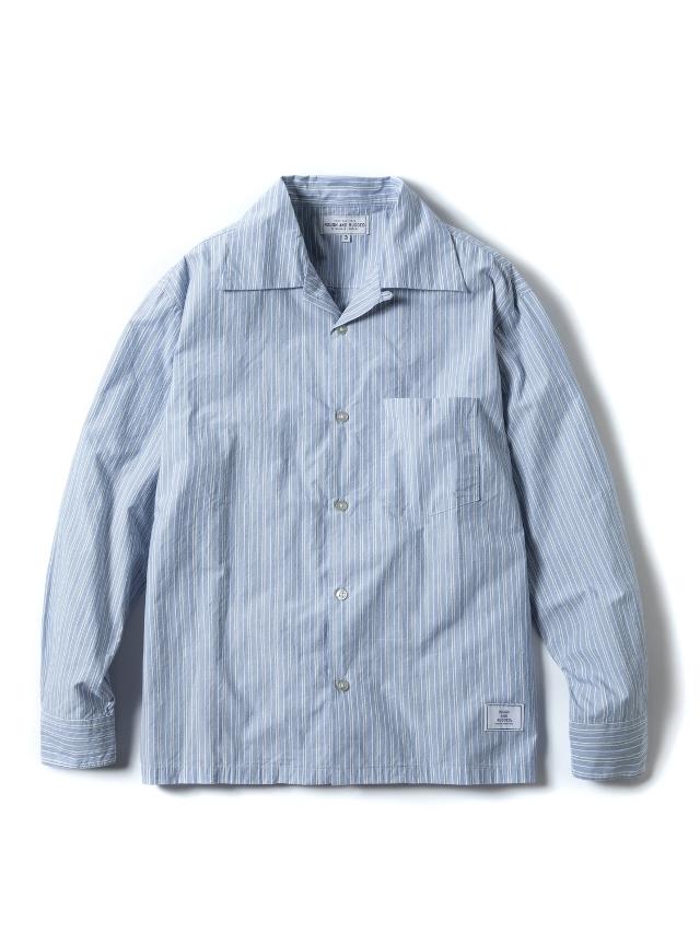 【予約商品:4月入荷予定】 ROUGH AND RUGGED   「WALKEN」  長袖ストライプシャツ
