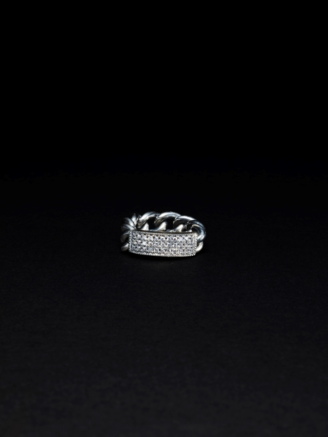 ANTIDOTE BUYERS CLUB  「Pave ID Ring」  SILVER950製 リング