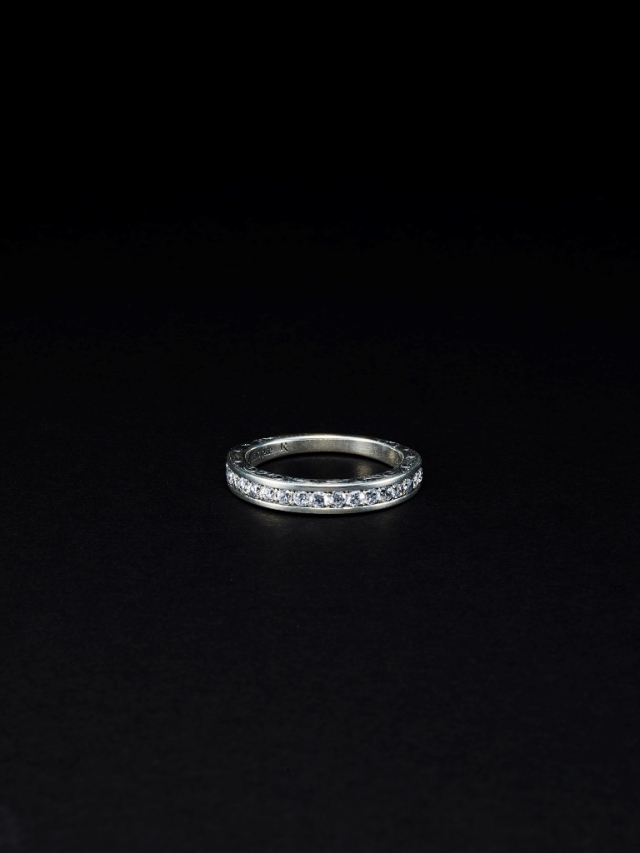 ANTIDOTE BUYERS CLUB  「Engraved Pave Ring」  SILVER950製 リング