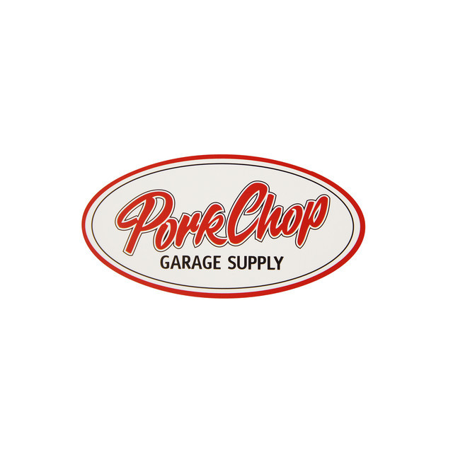 PORKCHOP GARAGE SUPPLY   「PORKCHOP OVAL STICKER 〈SMALL〉」  ステッカー