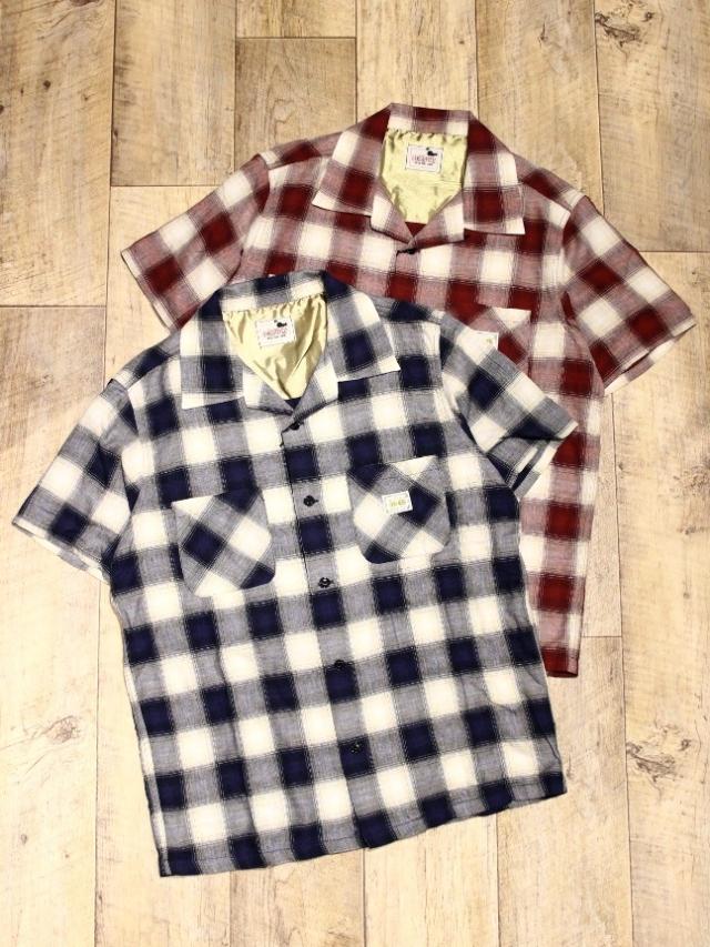 GANGSTERVILLE   「JAMES - S/S SHIRTS」   オープンカラーチェックシャツ