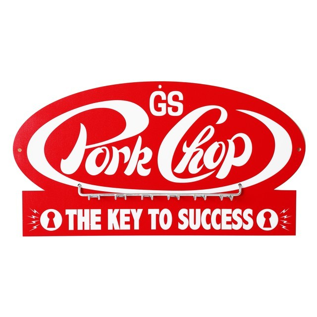 PORKCHOP GARAGE SUPPLY   「 P-Key hook 」  キーフックボード