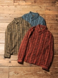 CALEE  「L/S STAR PATTERN CHECK SHIRT」 プリントチェックシャツ