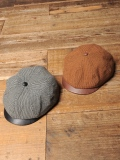 CALEE  「TWEED / LEATHER  CASQUETTE」   レザーコンビ キャスケット