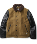 CRIMIE  「N-1 LEATHER SLEEVE JACKET」  レザースリーブ N-1デッキジャケット