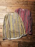 CALEE  「GEOMETRICK PATTERN NO COLLAR  L/S SHIRT」 ノーカラーシャツ