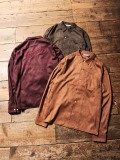 CALEE  「FAKE SUEDE EMBROIDERY L/S SHIRT  」    フェイクスウェードシャツ