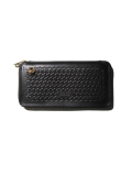 CALEE  「EMBOSSING LEATHER ROUND ZIP LONG WALLET 」 レザーウォレット